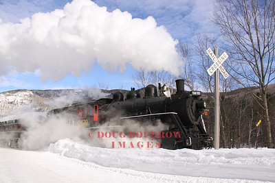 Conway Scenic Railroad MBRRE Steam in the Snow, 1-4-14