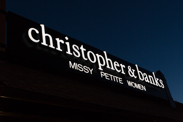 Christopher & Banks Sign