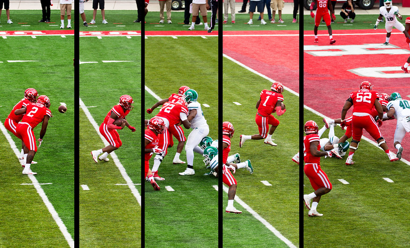 ... But Ward keeps, two plays later, for a UH TD.   We lead 14 to 0.