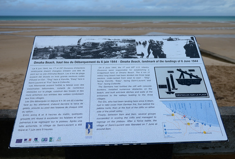 Info sign at Omaha Beach