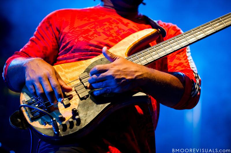 Victor Wooten of Bèla Fleck & The Flecktones performs at Jannus Live in St. Petersburg, FL on October 20, 2011