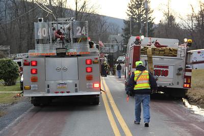 Chimney Fire Response, W. Bear Creek Drive, Summit Hill (1-31-2013)