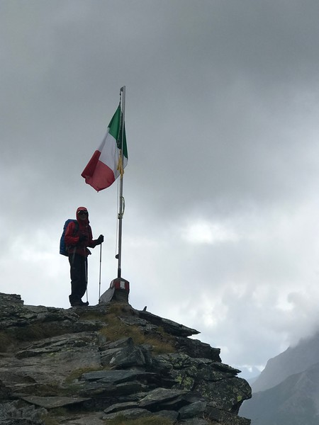 Sheldon at the top near Rifugio Longoni