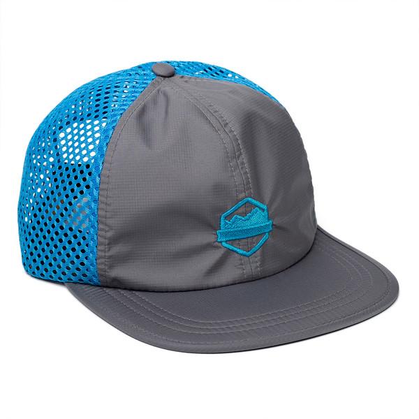Organ Mountain Outfitters - Outdoor Apparel - Sportswear Headwear - OMO Performance Mesh Cap - Charcoal Cyan.jpg