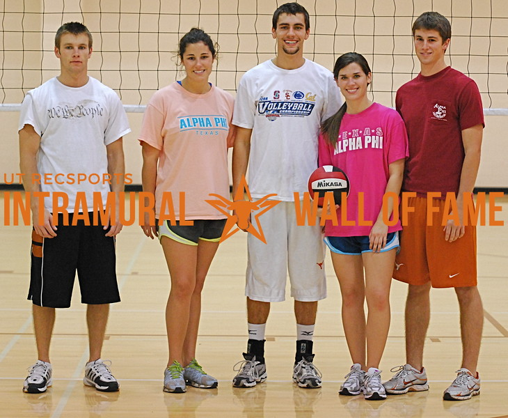 FALL VOLLEYBALL Coed A Champions  Scared Hitless  Justin Waters, Laura Vaughn, Chris Fuller-Wigg, Jayde Cornell, Zachary Shirley