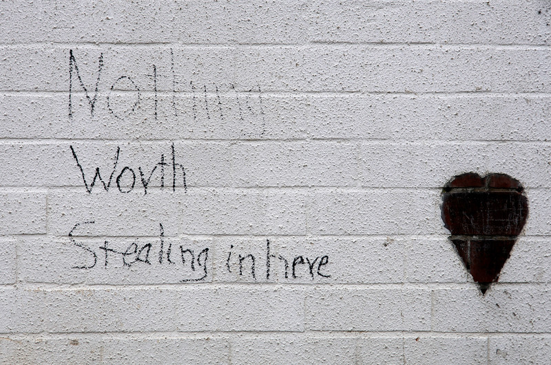 Nothing worth stealing