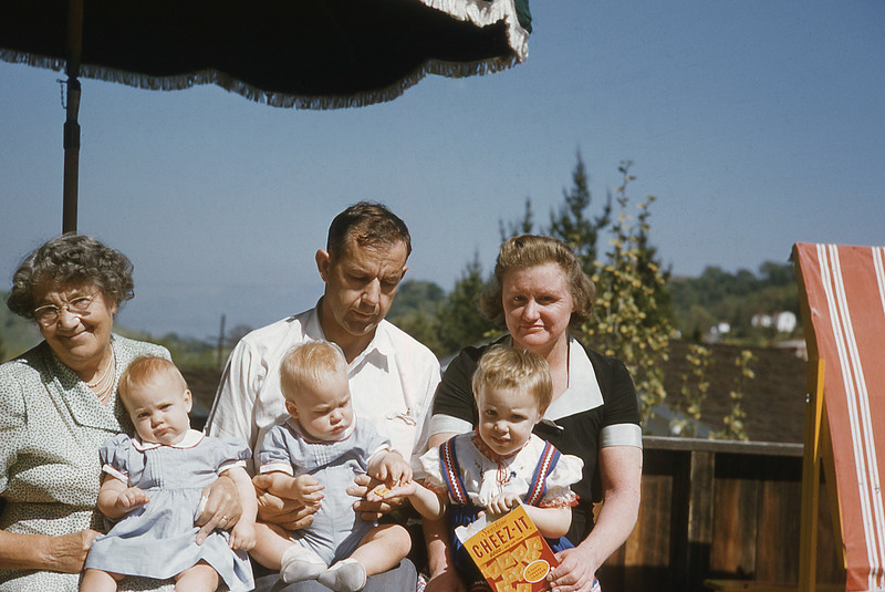 Grandma Robinson and Family 1955