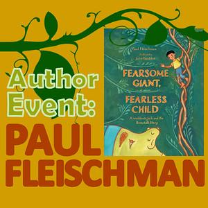 Paul Fleischman Author Visit April 2019