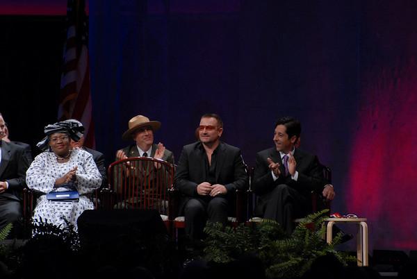 Bono receives the 2007 Liberty Medal Award Philadelphia