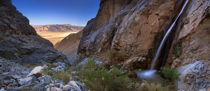 Death Valley Canyon Waterfall
