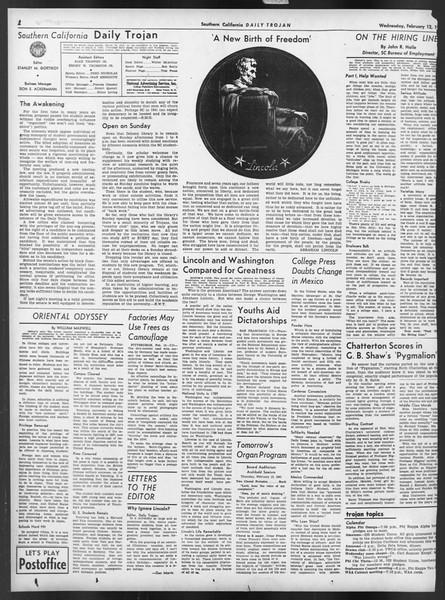 Daily Trojan, Vol. 32, No. 79, February 12, 1941