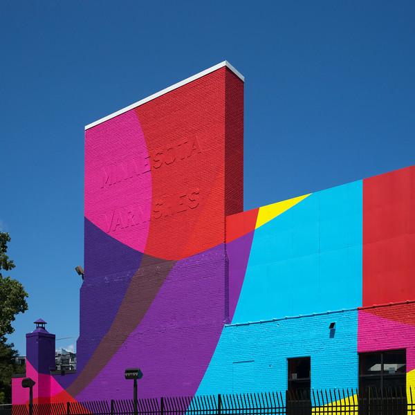 Facade of a colorful building, Minneapolis, Hennepin County, Minnesota, USA
