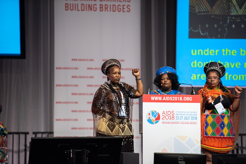 22nd International AIDS Conference (AIDS 2018) Amsterdam, Netherlands.   Copyright: Steve Forrest/Workers' Photos/ IAS  Photo shows: Special Session: The legacy of Prudence Mabele: Championing gender justice and health equity. Duduzile (Dudu) Dlamini, winner of  the Prudence Mabele Prize speaking.