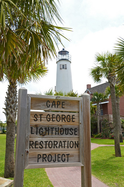 St. George Island is a barrier island with the Apalachicola Bay on the north and the Gulf of Mexico on the south.  There are 20 miles of beach on the gulf-side, and miles of marshes on the bayside.   Although much of the island is overrun with vacation rentals, there still is a little of the Old Florida left around the lighthouse and the east end of the island is protected from development as a State Park.