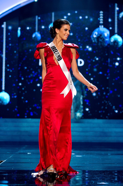. Miss Ireland 2012 Adrienne Murphy competes in an evening gown of her choice during the Evening Gown Competition of the 2012 Miss Universe Presentation Show in Las Vegas, Nevada, December 13, 2012. The Miss Universe 2012 pageant will be held on December 19 at the Planet Hollywood Resort and Casino in Las Vegas. REUTERS/Darren Decker/Miss Universe Organization L.P/Handout