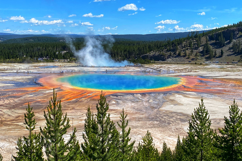 Yellowstone National Park - Grand Prismatic Spring & Midway Geyser Basin (7-18-20)