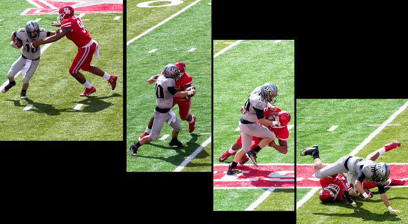 Milton is sacked by Malveaux for a loss of 9 yards ...