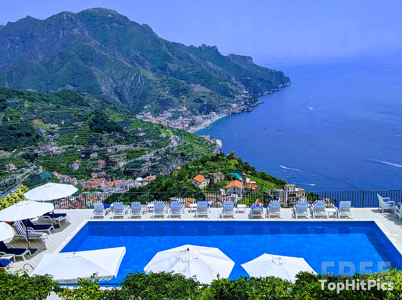 Swimming Pool View in Ravello, Italy