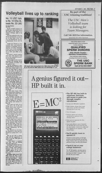 Daily Trojan, Vol. 123, No. 4, September 07, 1994