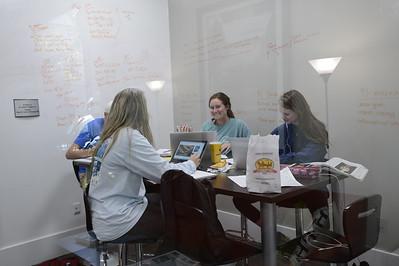 Students Studying-Biking-Outside-Portraits