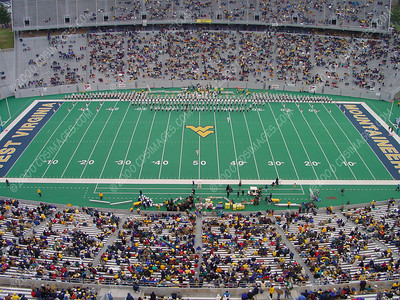WVU vs East Carolina - Halftime Formations