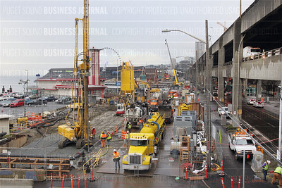 Construction delays plague Seattle waterfront businesses