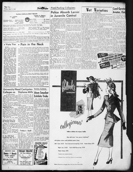 Daily Trojan, Vol. 38, No. 131, May 09, 1947