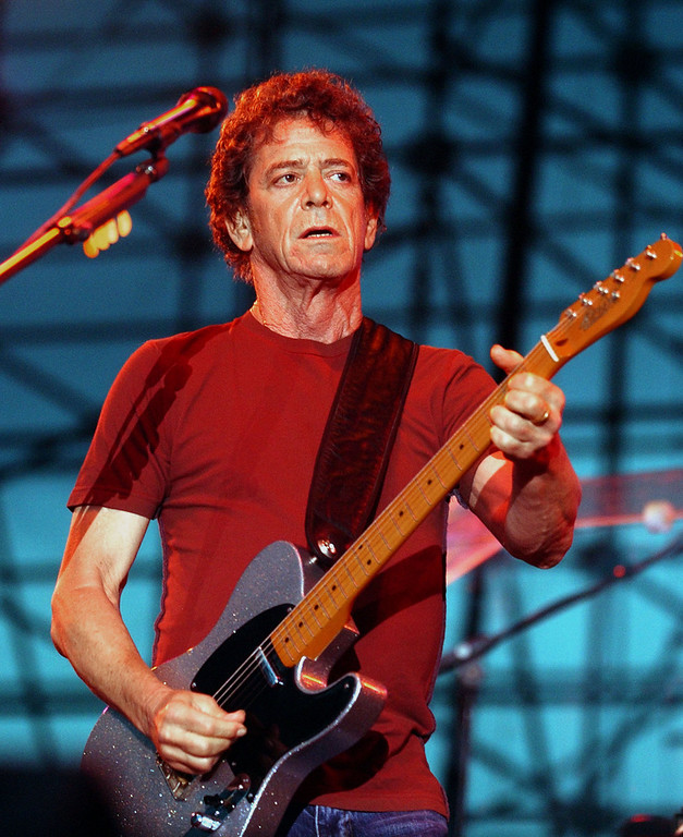 . Rolling Stone Reports Death of Rock Musician Lou Reed, at 71, renowned for both his work with Velvet Underground and a prolific solo career. ATLANTA - JUNE 10:  Singer, songwriter Lou Reed performs at the Music Midtown festival, June 10, 2005 in Atlanta, Georgia. The three day festival features national musical acts.  (Photo by Erik S. Lesser/Getty Images)
