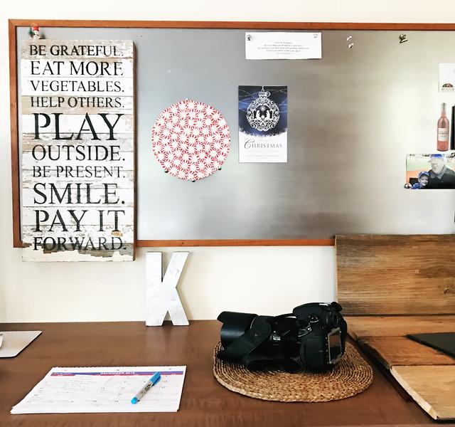 Framed Cooks studio desk