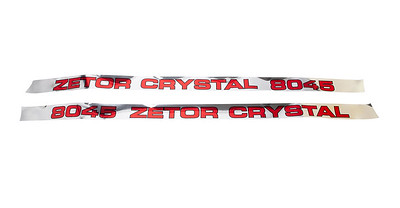 ZETOR 8045 SERIES BONNET DECAL SET