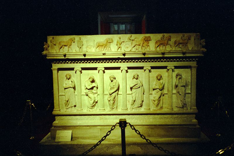 Weeping women sarcophagus