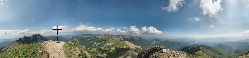 View from Monte Rondinaio, Pievepelago, Lucca, Italy - June 3, 2017