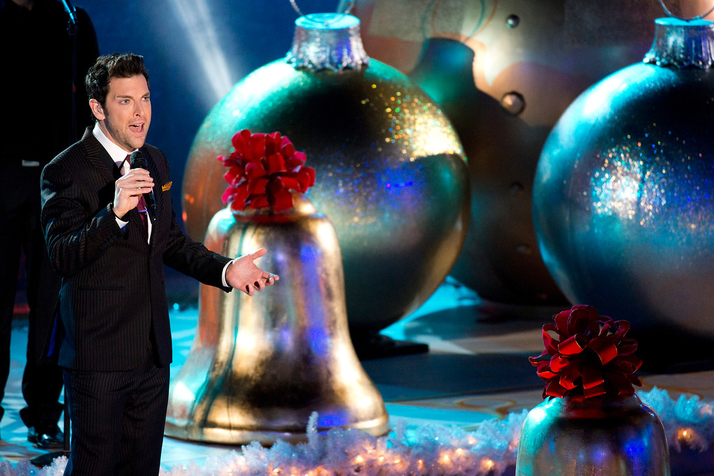 . Chris Mann performs at the 80th annual Rockefeller Center Christmas tree lighting ceremony on Wednesday, Nov. 28, 2012 in New York. (Photo by Charles Sykes/Invision/AP)