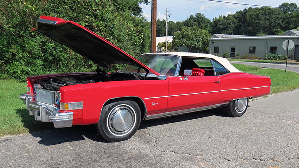 August 6:  1974 Cadillac Eldorado convertible .  .  .