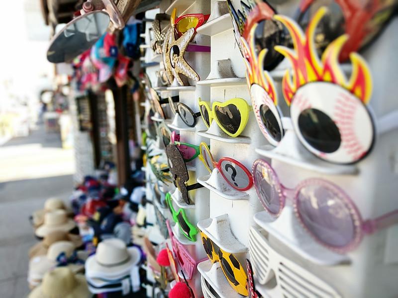 Crazy sunglasses for sale in Venice Beach