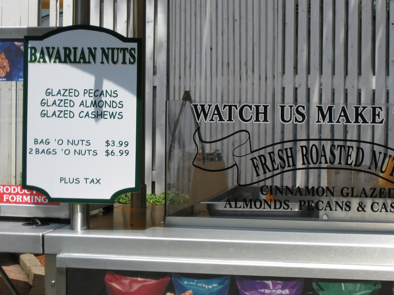 Bavarian Nuts menu.