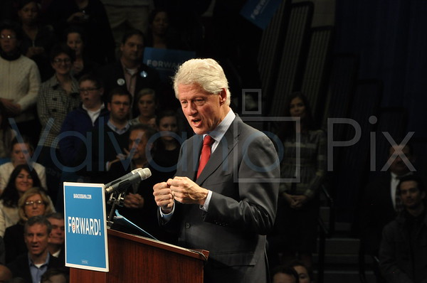 President Clinton's visit to Scranton High School.