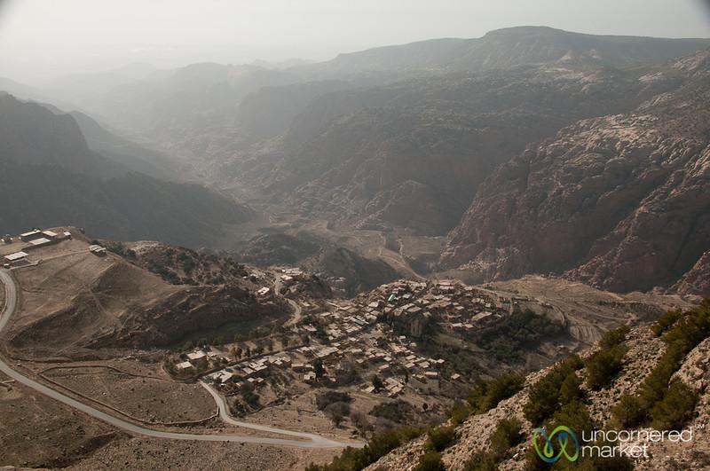 View of Dana Village in Jordan