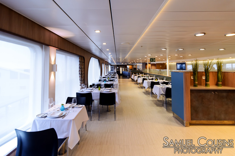 A fancier restaurant space on the Nova Star.