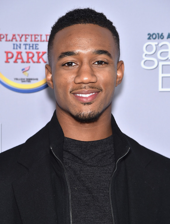 . Jessie Usher attends the Garden Brunch prior to the 102nd White House Correspondents\' Association Dinner at the Beall-Washington House on April 30, 2016 in Washington, DC.  (Photo by Dimitrios Kambouris/Getty Images)