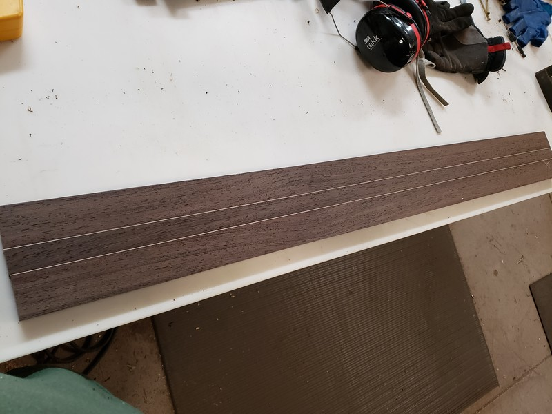 wenge neck blank with maple stripes