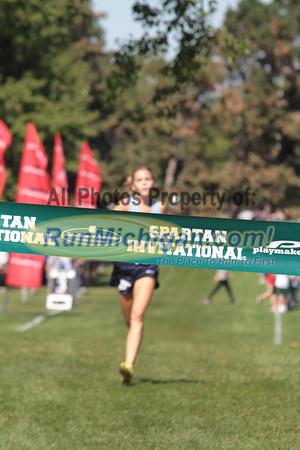 HS Girls White Finish - 2012 Spartan Invitational