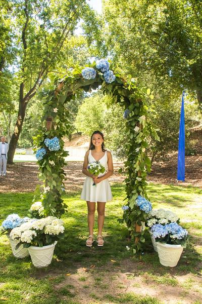 Sophia's grads ceremony