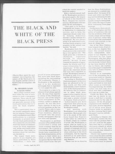 SoCal, Vol. 64, No. 100, April 10, 1972