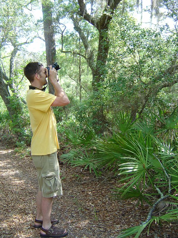 Miles composing a shot for National Geographic.