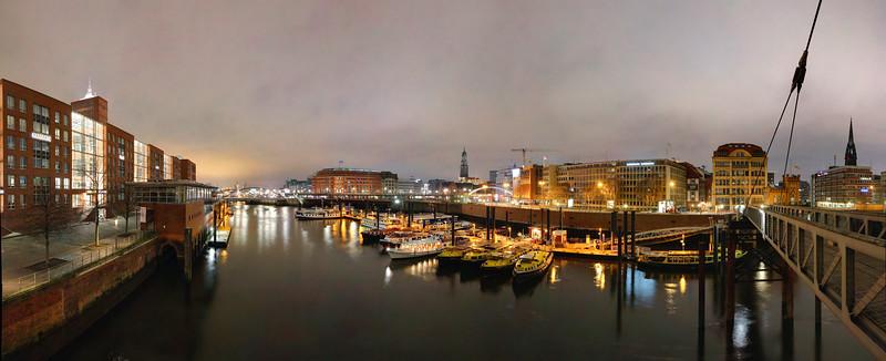 Binnenhafen bei Nacht Hamburg