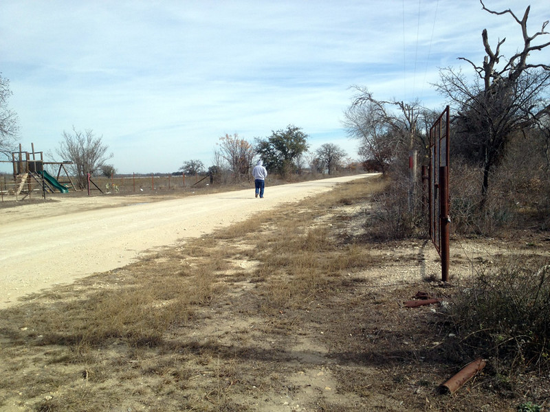 MY FIRST SOLO WALK After the week in Alpine, the doc cleared me for travel, so we headed to Joe and Lyn's place in the little town of Star, Texas, to continue my recuperation. Lyn walked with me on my three daily walks at first, but once she was sure I wasn't going to collapse there on the road, I went solo from then on. This was the first of those walks.