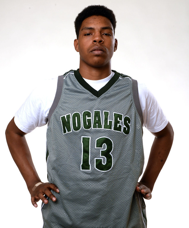 . Nogales\' Andrew Bullock, All-Area basketball Players at the San Gabriel Valley Tribune in West Covina, Calif., on Tuesday, April 8, 2014.  (Keith Birmingham Pasadena Star-News)
