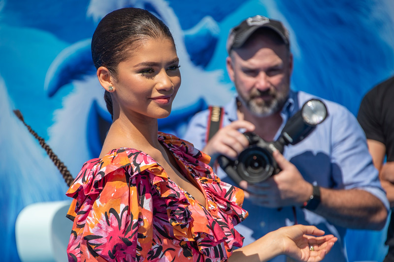WESTWOOD, CA - SEPTEMBER 22: Zendaya arrives at the Premiere Of Warner Bros. Pictures' 'Smallfoot' at Regency Village Theatre on Saturday, September 22, 2018 in Westwood, California. (Photo by Tom Sorensen/Moovieboy Pictures)