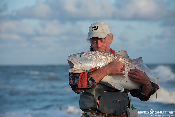 April 13, 2018, Red Drum, Fishing, Fisherman, Cape Point, Buxton, Hatteras Island, Cape Hatteras National Seashore, Epic Shutter Photography, Outer Banks Photographers, Hatteras Island Photographers